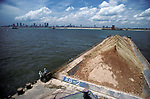 Land reclamation Singapore. Much of Singapore island is build on reclaimed land   from the sea 1990s