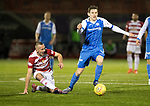 Hamilton Accies v St Johnstone…09.12.17…  New Douglas Park…  SPFL<br />Blair Alston gets away from Darian MacKinnon<br />Picture by Graeme Hart. <br />Copyright Perthshire Picture Agency<br />Tel: 01738 623350  Mobile: 07990 594431