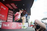 thumbs up for Steven Kruijswijk (NLD/LottoNL-Jumbo)<br /> <br /> stage 15 (iTT): Castelrotto-Alpe di Siusi 10.8km<br /> 99th Giro d'Italia 2016
