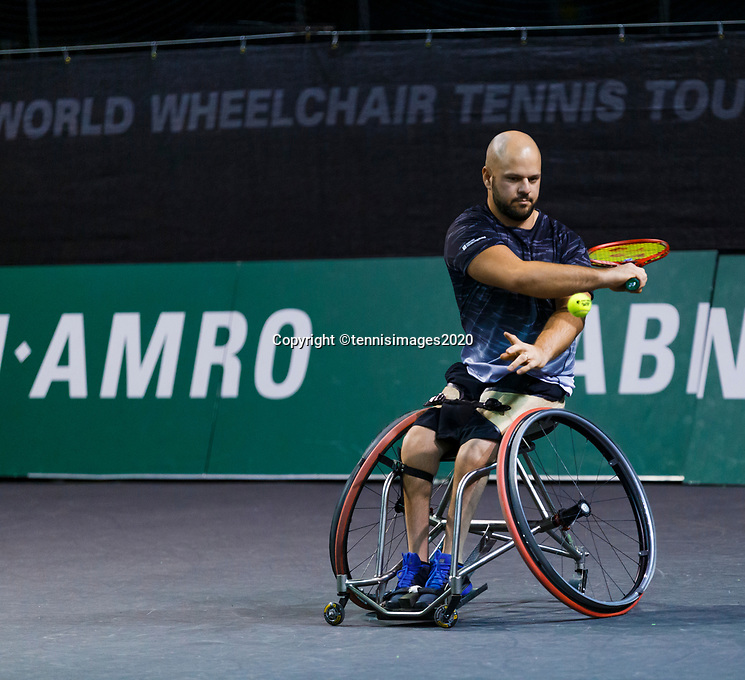 Rotterdam, The Netherlands, 12 Februari 2020, Wheelchair: Stefan Olsson (SWE).<br /> Photo: www.tennisimages.com
