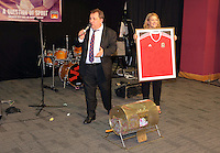 Pictured: Kev Johns and Kate Rees Thursday 08 April 2016<br />Re: Zimkids dinner at the Liberty Stadium, Swansea, UK