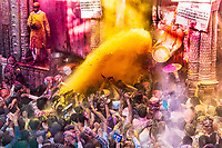 Mathura and Vrindalan's colorful celebrations of Holi, in India.
