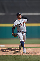 Detroit Tigers pitcher Cleiverth Perez (86) during a Florida Instructional League intrasquad game on October 24, 2020 at Joker Marchant Stadium in Lakeland, Florida.  (Mike Janes/Four Seam Images)