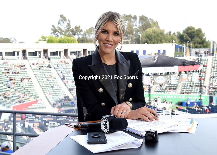 CARSON, CA - MAY 1: Charissa  Thompson on the Fox Sports PBC fight night on May 1, 2021 at Dignity Health Sports Park in Carson, CA. (Photo by Frank Micelotta/Fox Sports/PictureGroup)