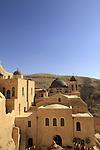 The Greek Orthodox Mar Saba monastery overlooking the Nahal Kidron  in the Judean desert