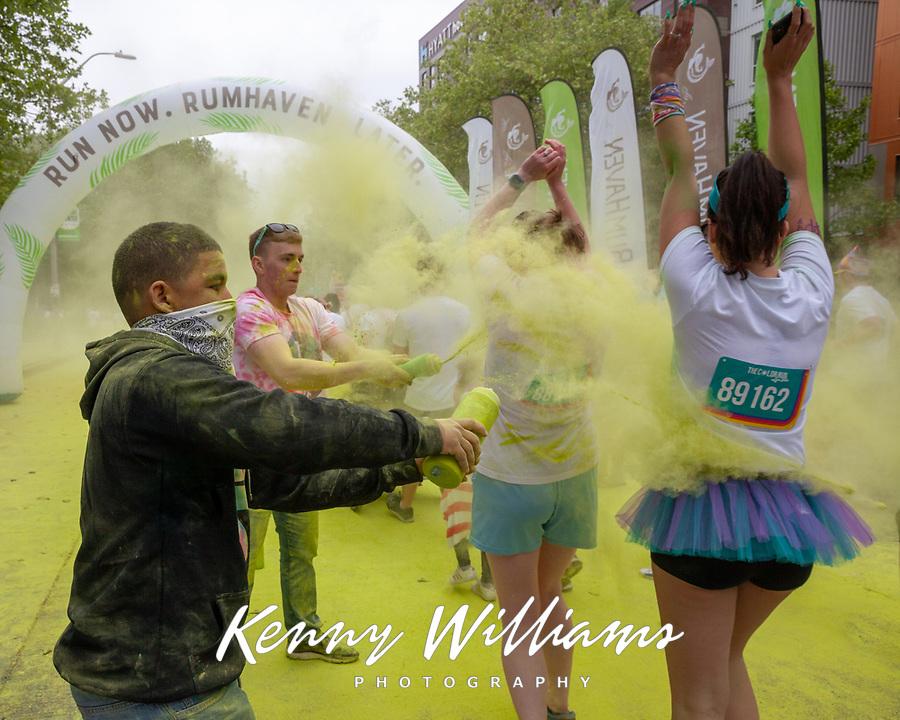 The Color Run, Seattle, Washington, USA.