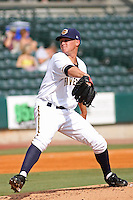 Charleston Riverdogs pitcher Josh Romanski #26 pitching during a game vs. the Rome Braves at Joseph P. Riley Jr. Ballpark in Charleston, South Carolina on June 6, 2010. Charleston defeated Rome by the score of 4-2.  Photo By Robert Gurganus/Four Seam Images