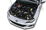 Car stock 2017 Subaru BRZ Sport Premium 2 Door Coupe engine high angle detail view