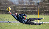 Goalkeeper Cameron Yates of Wycombe Wanderers during the Wycombe Wanderers Training session at Wycombe Training Ground, High Wycombe, England on 17 January 2019. Photo by Andy Rowland.