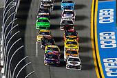 Monster Energy NASCAR Cup Series<br /> Can-Am Duel At Daytona<br /> Daytona International Speedway, Daytona Beach, FL USA<br /> Thursday 15 February 2018<br /> Kevin Harvick, Stewart-Haas Racing, Jimmy John's Ford Fusion and Denny Hamlin, Joe Gibbs Racing, FedEx Express Toyota Camry<br /> World Copyright: Russell LaBounty<br /> LAT Images