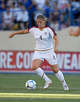 Cat Whitehill dribbles. USA defeated Japan 4-1 at Spartan Stadium in San Jose, CA on July 28, 2007.