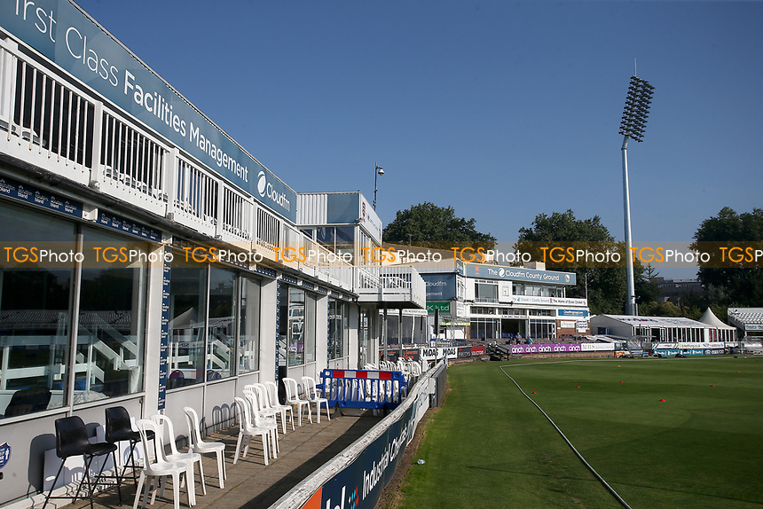 General view of the ground ahead of Essex CCC vs Gloucestershire CCC, LV Insurance County Championship Division 2 Cricket at The Cloudfm County Ground on 7th September 2021