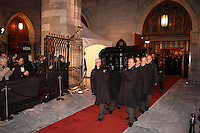 Celine Dion and  her kids at the funeral of Rene Angelil, Husband and Manager, Friday Jan. 22, 2016 at Notre-Dame Basilica in Montreal, Canada.<br /> <br /> <br /> <br /> <br /> <br /> <br /> <br /> <br /> <br /> <br /> <br /> <br /> <br /> .