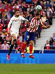 Atletico de Madrid's Felipe and Sevilla FC's Youssef En-Nesyri competes for the ball during La Liga match. Mar 07, 2020. (ALTERPHOTOS/Manu R.B.)
