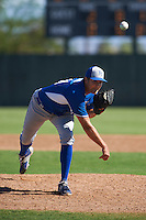 Kansas City Royals pitcher Alex Luna (61) during an instructional league game against the San Francisco Giants on October 23, 2015 at the Papago Baseball Facility in Phoenix, Arizona.  (Mike Janes/Four Seam Images)