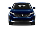 Car photography straight front view of a 2021 Peugeot 3008 Allure 5 Door SUV Front View