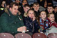 Burnley supporters<br /> <br /> Photographer Andrew Kearns/CameraSport<br /> <br /> The Premier League - Burnley v Liverpool - Wednesday 5th December 2018 - Turf Moor - Burnley<br /> <br /> World Copyright © 2018 CameraSport. All rights reserved. 43 Linden Ave. Countesthorpe. Leicester. England. LE8 5PG - Tel: +44 (0) 116 277 4147 - admin@camerasport.com - www.camerasport.com