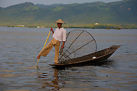 Inle Lake traditional Fisherman, Shan State, Myanmar
