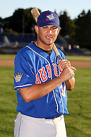 August 28th, 2007:  Manny Rodriguez of the Auburn Doubledays, Class-A affiliate of the Toronto Blue Jays at Dwyer Stadium in Batavia, NY.  Photo by:  Mike Janes/Four Seam Images