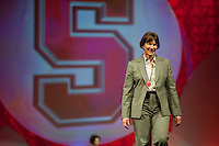INDIANAPOLIS, IN - APRIL 1, 2011: Head Coach Tara VanDerveer walks the runway at the Cirque du Salute show at the Indianapolis Convention Center at Tourney Town during the NCAA Final Four in Indianapolis, IN on April 1, 2011.