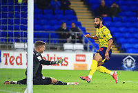 28th September 2021; Cardiff City Stadium, Cardiff, Wales;  EFL Championship football, Cardiff versus West Bromwich Albion; Matt Phillips of West Bromwich Albion scores his sides fourth goal to make it 0-4 in the 82nd minute
