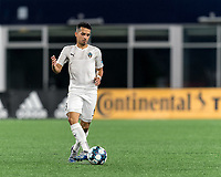 FOXBOROUGH, MA - SEPTEMBER 1: Danny Bedoya #8 of FC Tucson passes the ball during a game between FC Tucson and New England Revolution II at Gillette Stadium on September 1, 2021 in Foxborough, Massachusetts.