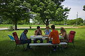 Wataga, Illinois<br /> July 11, 2014<br /> <br /> Tommy O'Connor, a family GMO corn and soy farmer in central Illinois on his farm.