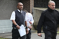 Tuesday 18 April 2017<br /> Businessman Craig Evans, 26, (C) facing jail over an affair with a 14 year old girl, Merthyr Crown Court, Wales, UK