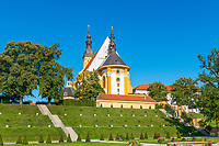 Klosterkirche St. Mariä Himmelfahrt, Klostergarten, Kloster Neuzelle, Niederlausitz, Brandenburg, Deutschland