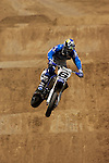 Mark Burkhart (6) competes during the Moto X Super Moto final during X-Games 12 in Los Angeles, California on August 6, 2006.
