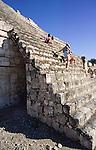 Stairs on the edificio de los Cinco, Gran Acropolis, Edzna, Mexico, Central America, Edificio de los Cinco, Gran Acropolis, Edzna, Mexico, Central America