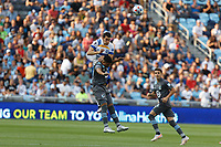 SAINT PAUL, MN - JULY 3: Emanuel Reynoso #10 of Minnesota United FC and Nathan #13 of the San Jose Earthquakes go to head the ball during a game between San Jose Earthquakes and Minnesota United FC at Allianz Field on July 3, 2021 in Saint Paul, Minnesota.