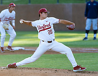 STANFORD, CA - JUNE 5: Brendan Beck during a game between UC Irvine and Stanford Baseball at Sunken Diamond on June 5, 2021 in Stanford, California.