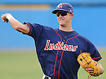 July 17, 2009: Infielder Lonnie Chisenhall (8) of the Kinston Indians, Carolina League affiliate of the Cleveland Indians, in a game against the Potomac Nationals at G. Richard Pfitzner Stadium in Woodbridge, Va. Photo by: Tom Priddy/Four Seam Images