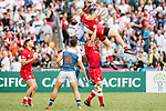 Canada vs France during their Bowl Final match as part of the HSBC Hong Kong Rugby Sevens 2018 on 08 April 2018, in Hong Kong, Hong Kong. Photo by Chung Yan Man / Power Sport Images