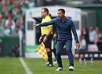 16.09.2017, Football 1. Bundesliga 2017/2018, 4.  match day, SV Werder Bremen - FC Schalke 04, Weserstadium Bremen. Trainer Domenico Tedesco (Schalke)  *** Local Caption *** © pixathlon<br /> <br /> +++ NED + SUI out !!! +++<br /> Contact: +49-40-22 63 02 60 , info@pixathlon.de