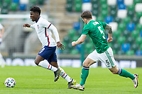 BELFAST, NORTHERN IRELAND - MARCH 28: Yunus Musah #8 of the United States during a game between Northern Ireland and USMNT at Windsor Park on March 28, 2021 in Belfast, Northern Ireland.