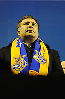 Former president of Georgia Mikhail Saakashvili supports Ukrainian democratic movement in Kiev, as protests against current government and president Yanukovich spread around the country.