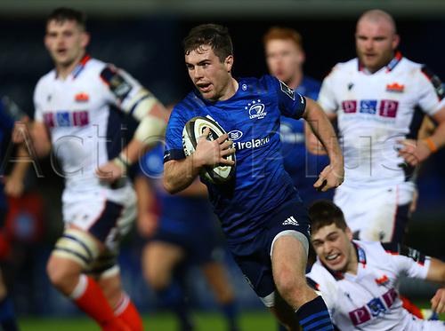 16th November 2020; RDS Arena, Dublin, Leinster, Ireland; Guinness Pro 14 Rugby, Leinster versus Edinburgh; Luke McGrath (Leinster) breaks through to score a try