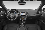 Stock photo of straight dashboard view of 2021 JEEP Compass S 5 Door SUV Dashboard