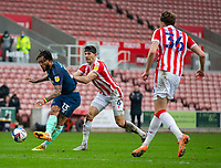 20th March 2021; Bet365 Stadium, Stoke, Staffordshire, England; English Football League Championship Football, Stoke City versus Derby County; Colin Kazim-Richards of Derby County takes a shot on goal
