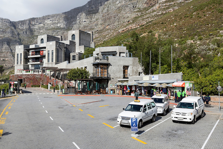 South Africa, Cape Town.  Lower Terminal of the Aerial Cableway to Top of Table Mountain.