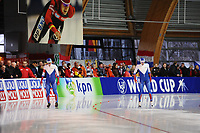 SPEEDSKATING: ERFURT: 19-01-2018, ISU World Cup, 500m Men A Division, Artyom Kuznetsov (RUS), Alexey Yesin (RUS), photo: Martin de Jong