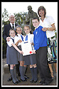 06/09/2007       Copyright Pic: James Stewart.File Name : sp_jspa09_weather_comp.SCOTTISH POWER : ROYAL METEOROLOGICAL SOCIETY : 2007 SCHOOLS WEATHER COMPETITION. .ALAN KELLY OF SCOTTISH POWER AND TEACHER LYNNE MCGUGAN PRESENT THE PUPILS FROM KING'S OAK PRIMARY SCHOOL, GREENOCK, WITH THEIR CERTIFICATE  AFTER THEY WON THE ROYAL METEOROLOGICAL SOCIETY'S, 2007 SCHOOLS WEATHER COMPETITION, SPONSORED BY SCOTTISH POWER, UNDER THE WATCHFUL EYE OF GREENOCK'S FAMOUS SON JOHN WATT... THE PUPILS ARE LtoR SEONAID MCLAUGHLAN (9), REBECCA KEMP (10), JENNA HOLMES (10) AND KYLE LINDSAY (10).....James Stewart Photo Agency 19 Carronlea Drive, Falkirk. FK2 8DN      Vat Reg No. 607 6932 25.Office     : +44 (0)1324 570906     .Mobile   : +44 (0)7721 416997.Fax         : +44 (0)1324 570906.E-mail  :  jim@jspa.co.uk.If you require further information then contact Jim Stewart on any of the numbers above........