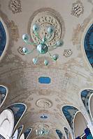 Europe/France/Rhône-Alpes/74/Haute-Savoie/Évian-les-Bains: Salle de restaurant de l' Hôtel: Evian Royal Resort, avec ses fresques de Jeaulmes,