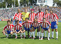 9 April 2005:   Chivas USA starting line-ups before the game against Earthquakes at Spartan Stadium in San Jose, California.   San Jose Earthquakes tied Chivas USA, 3-3.   Credit: Michael Pimentel / ISI