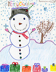 Holiday card designed by Augustin Nunez of Pleasantville Elementary School.