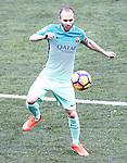 FC Barcelona's Andres Iniesta during La Liga match. February 26,2017. (ALTERPHOTOS/Acero)