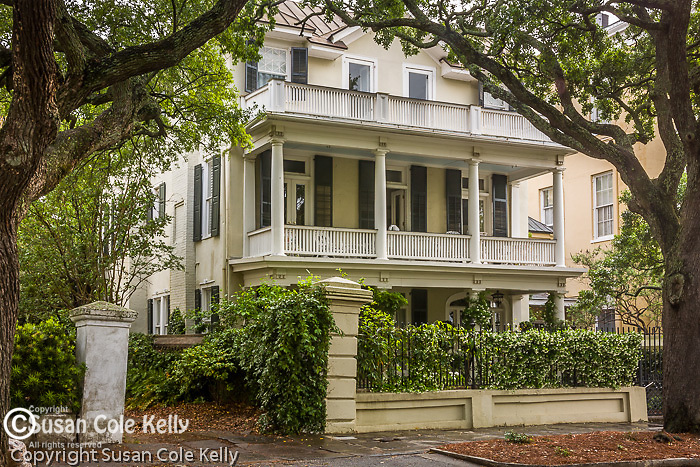 Stately antebellum mansion on The Battery, Charleston, SC, a National Historic Landmark district.