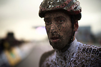 Ian Field's (GBR/Hargroves Cycles) post-race face<br /> <br /> Duinencross Koksijde WorldCup 2015
